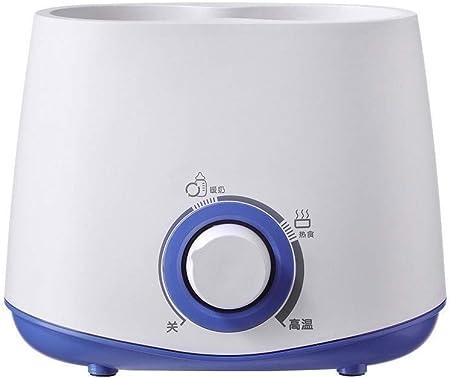 ♥ Calentamiento de biberón doble: leche tibia + agua tibia sincrónicamente antes de acostarse para c
