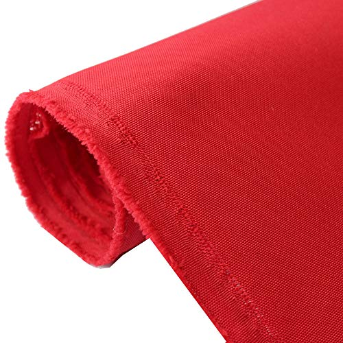 Waterproof Canvas Fabric Outdoor 600 Denier Indoor/Outdoor Fabric by the yard PU Backing W/R, UV, 2times GOOD PU Color : Red 10 Yards
