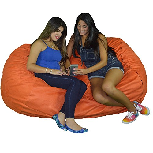 Cozy Sack 640-CBB-PUMPKIN Maui Beanbag Chair, 6' , Pumpkin (Chair Pumpkin)