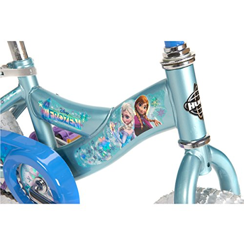 Disney Frozen 12-inch Bike by Huffy, Recommended for Ages 3-5 and a Rider Height of 37-42 inches, with Fun Graphics of Elsa, Anna, and Olaf, Style 22235 by Huffy (Image #3)