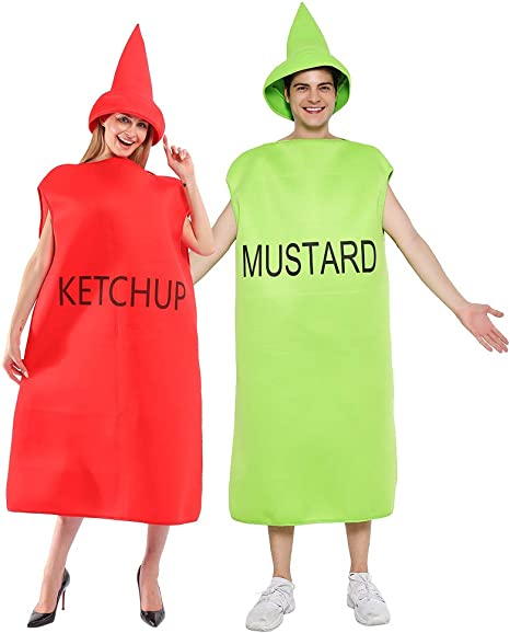 EraSpooky Disfraz de Salsa de Tomate Mostaza Comida Unisex ...