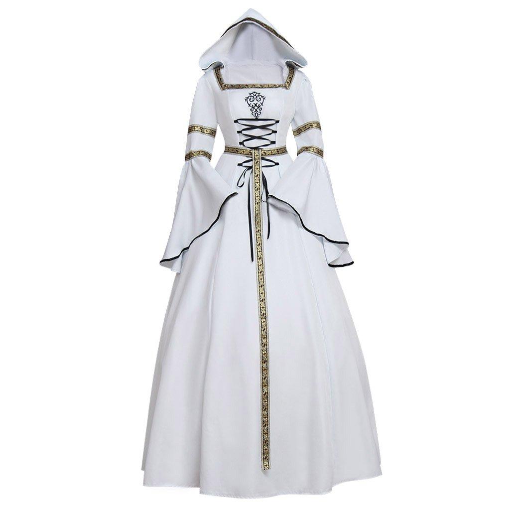 CosplayDiy Women's Medieval Victorian Renaissance Wedding Dress Costume L