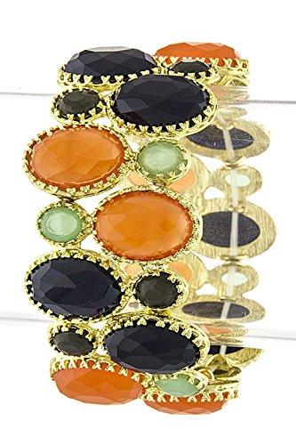 THE JEWEL RACK OVAL JEWEL STACKED BRACELET (MULTI) (Lois Hill Oval Bracelet)