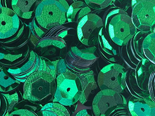 - Sequins 8mm 800/Pkg Emerald Green