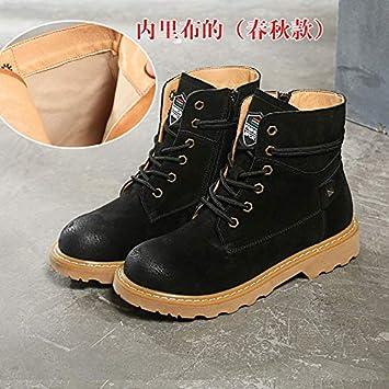 a868800cf29a Martin Boots Femme Base Plate Angleterre dans Les Bottes Bottines Chaussures  en Velours de Coton de