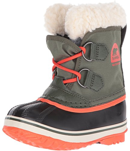 Sorel Kids' Childrens Yoot Pac Nylon-K Snow Boot, Green, 11 M US Little Kid