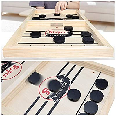 Fast Slingshot Puck Game Paced, Table Desktop Battle 2 in 1 Ice Hockey Game/ Winner Board Games Toys for Adults Parent-Child Interactive Chess Toy Board Table Game (14.6x9.5x1.18in): Toys & Games