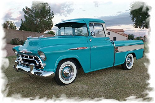Cameo Chevy Pickup Truck - 1957 Chevrolet Chevy Cameo Pickup Truck Mouse Pad mousepad Classic Vintage Old Cars Hot Rods Speed Computer Dessktop Supplies