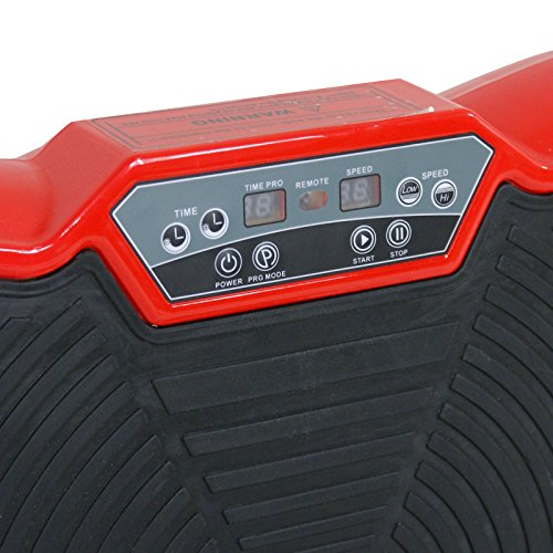Crazy Fit Full Body Vibration Platform Massage Machine Plate Vibration Workout Trainer w/Straps and Remote Control