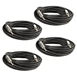 Seismic Audio Q12TW50-4Pack 50-Feet 1/4 to 1/4-Inches Speaker Cable 12-Gauge 2 Conductor, 4 Pack