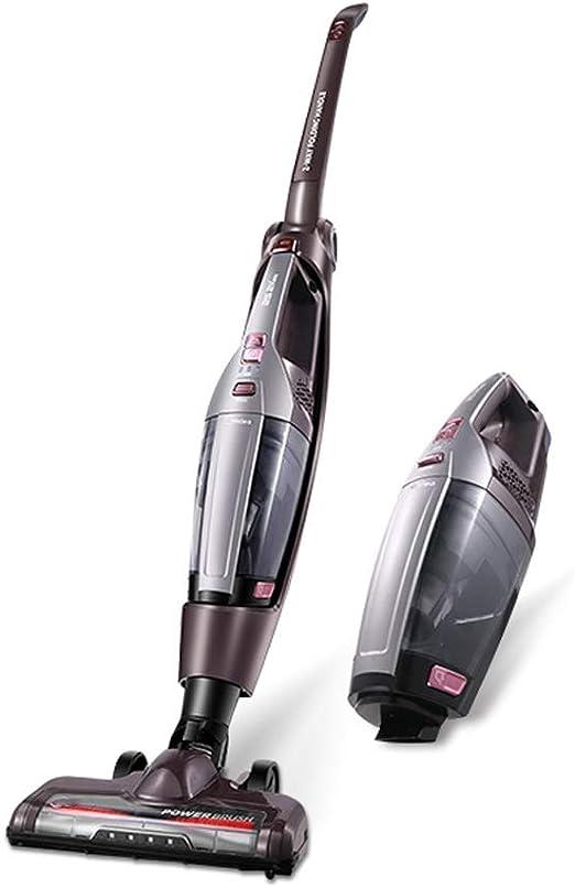 Aspirador Escoba, Ajuste de Dos velocidades, Mango Flexible, 2000mAh Batería de Litio/Desmontable, con Luz Led, Mango Ergonómico: Amazon.es: Hogar
