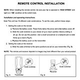 Eogifee Ceiling Fan Remote Control Replacement of