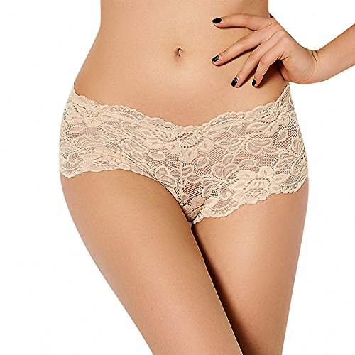Large color sexy underwear sexy lace transparent triangle underwear a summer P5059-6 beige 6XL