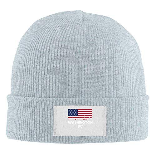 Beanies Caps Washington DC American Flag Wool Knitted Hats Unisex Skull Cap ()