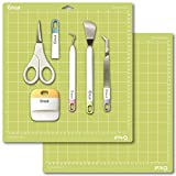 "Cricut Tools Basic Set and 2 Pack Cutting Mats 12""x12"" Bundle"