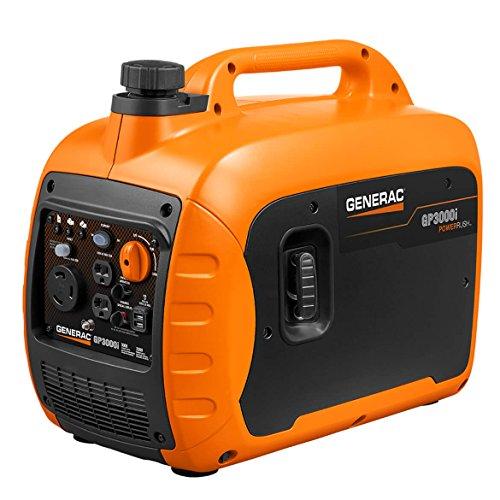 Generac GP3000i Super Quiet Inverter Generator – 3000 Starting Watts with PowerRush Technology