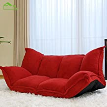 Double rollaway 1.2 meter function fabric floor sofa bed 1.5 m , wine red , pairs