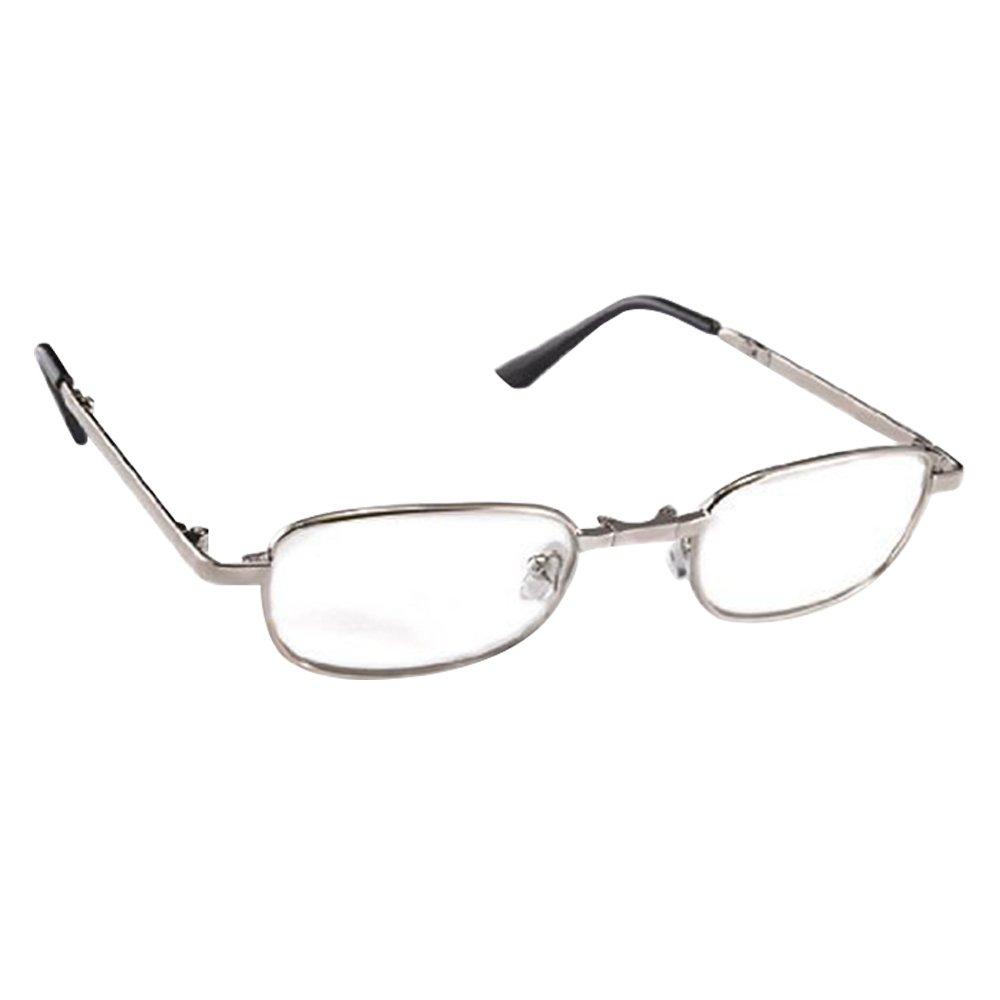 THG Metall Gestell Lesebrille Lesehilfe in verschiedenen Sehstärken Brille + 1, 50 Dioptrien mit Brillenhülle