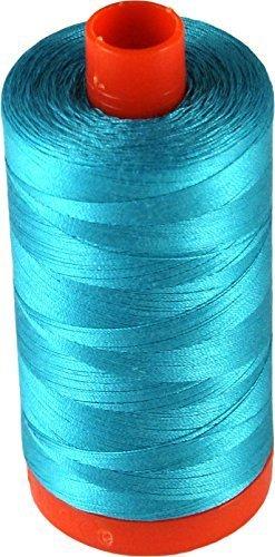 Aurifil A1050-2810 Solid 50wt 1422yds Turquoise Mako Cotton