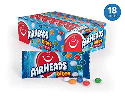Airhead Bites Fruit Flavored Candy 2 Ounce Packs (Pack of 18) -