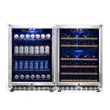 Under Counter Built-in Triple Zone Beverage Cooler Refrigerator and Wine Cooler Refrigerator Combo| KBUSF54COMBO