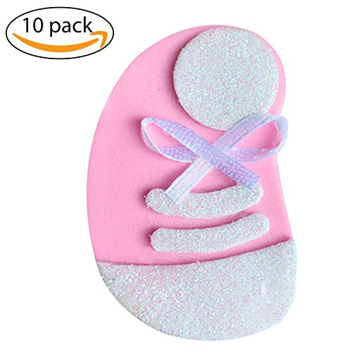 Cute Baby shower Pin, set 10 pieces, Pink Tennis Shoes, decorations, Handmade Baby Shower Pins for guest to wear, ornament to decore your party. Craft ideas, use in Baby Sex Reveal Party
