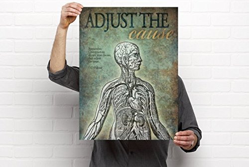 - Clinic Artwork Adjust The Cause - 18'x24' Poster, Chiropractic Art and Clinic Decor