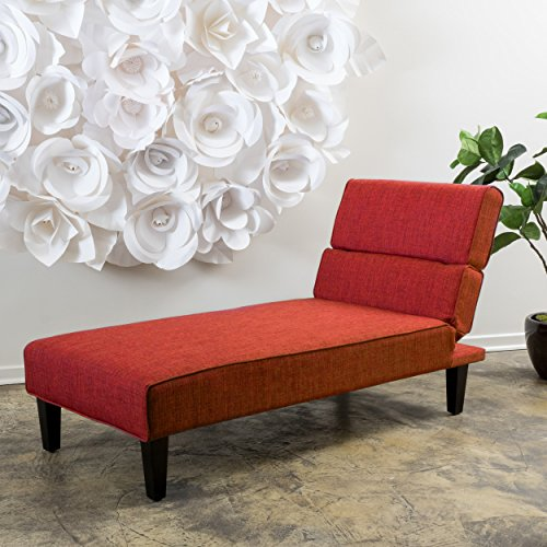 Christopher Knight Home 298291 Astrid Red Fabric Chaise,
