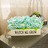 Emulation flower wooden fence swinging piece of fake flowers used to decorate a living room balcony tea home flowers packaged plants, light blue