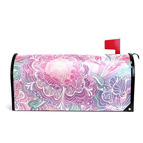 senya Home Garden Magic Light Flowers Pattern Magnetic Mailbox Cover Standard by senya
