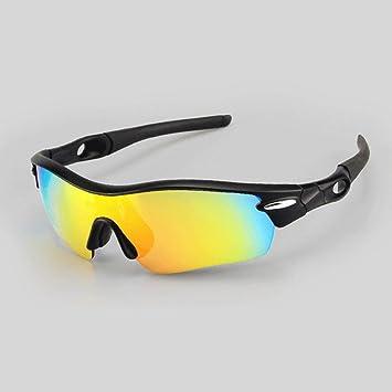 Outdoor-Sport Polarisierte Gläser Langlauf Reiten Sonnenbrillen Winddicht Verhindern Sand Goggles mit Myopie für Ski und Reisen , black