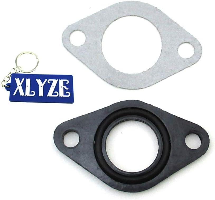 XLYZE 20mm Carburetor Carb Manifold Intake Pipe Gasket Spacer Seal 2sets for 50cc 70cc 90cc 110cc ATV Pit Dirt Bike Motorcycle Motocross