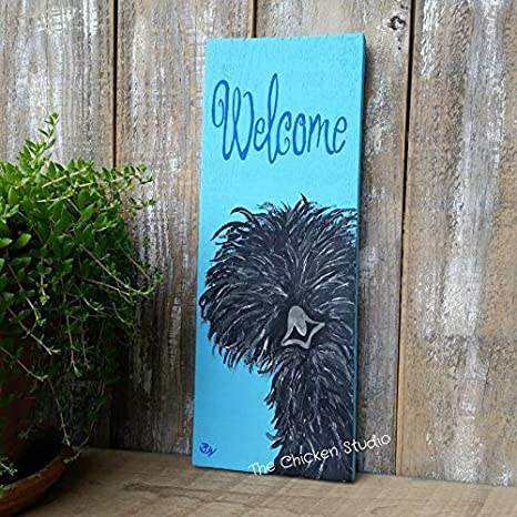 Amazon Com Chicken Coop Sign You Choose Colors Silkie