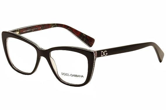 2872d67038 Dolce & Gabbana Montures de lunettes Pour Femme 3190 - 2940: Black /  Printing Roses