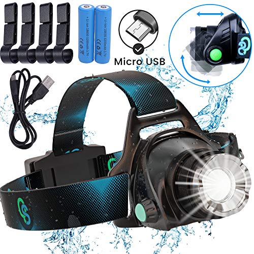 Rechargeable Headlamp Hard Hat