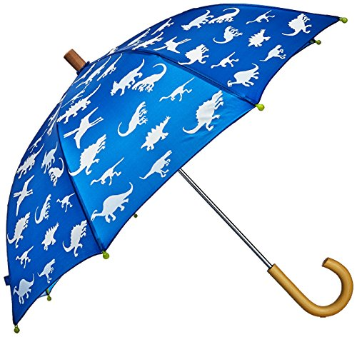 Hatley Little Boys' Printed Umbrella, Color Changing Dinosaur Menagerie, One (Colour Changing Umbrella)