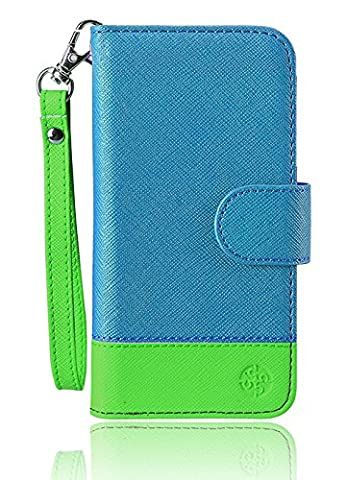 monsoon NAPLES Wallet Case Cover for Amazon Fire Phone (BLUE / GREEN) (Monsoon Naples Wallet Case Cover)