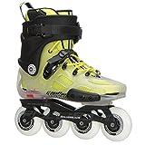 Rollerblade Twister X Inline Skates Translucent / Fluorescent Yellow-7