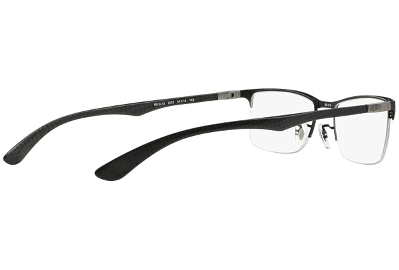 d0a142450f7972 Rayban RX 8413 2503 52 Carbon Fibre Matt Black Eyeglasses  Amazon.in   Clothing   Accessories