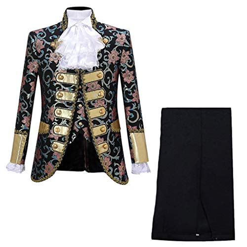 Usc Halloween Costumes (KINGOLDON Performances Suit Mens European Gothic Style Court Costumes Uniforms)