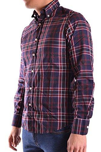 Fred Perry Herren MCBI128062O Blau/Rot Baumwolle Hemd