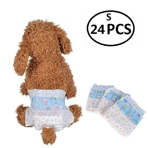 S Bailuoni Disposable Female Dog Diapers Printing Dog Diapers Female Small 32PCS (XXS)