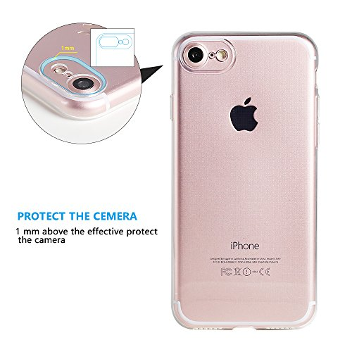 iPhone 7 Hülle Case TPU Schutzhülle | DÜNN | Crystal Case Durchsichtig Silikon transparent iPhone7 klar Cover Apple -
