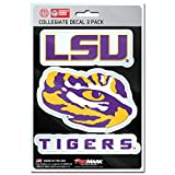 NCAA LSU Tigers Team Decal, 3-Pack