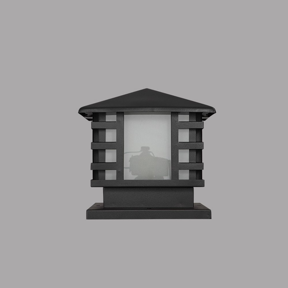 Modeen Continental Victoria Retro LED Outdoor Table Lamp Waterproof Villa Balcony Fence Column Lamp Desk Light Glass Aluminum Light Black E27 Decoration Garden Lights Lawn Lamp (Size : 36cm40cm) by Modeen (Image #2)
