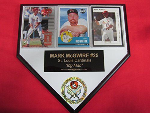 - J & C Baseball Clubhouse Mark McGwire St Louis Cardinals 3 Card Collector Home Plate Plaque to Amazon!