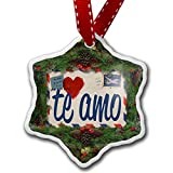 Christmas Ornament I Love You Spanish Love Letter from Spain - Neonblond