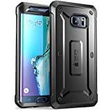 Samsung Galaxy S6 Edge Plus Case, SUPCASE [Heavy Duty] Belt Clip Holster Case for Galaxy S6 Edge Plus + [Unicorn Beetle PRO Series] Rugged Hybrid Cover WITHOUT Built-in Screen Protector (Black/Black)