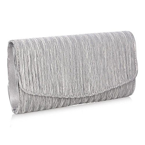 Handbag With Evening Silver Purse Strap Chain a Bridal As Pretty For Women Women Satin Clutch Envelope Party Bag Gift ptqWI