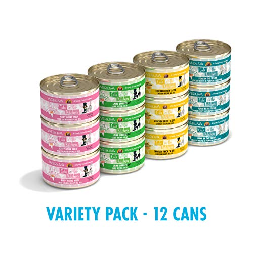 Weruva Cats in the Kitchen, Variety Pack, Kitchen Cuties, Wet Cat Food by Weruva, 3.2oz Cans (Pack of 12) (The Worlds Strictest Parents Changed My Life)